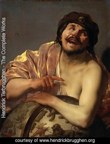 Hendrick Terbrugghen - Democritus [detail #1]