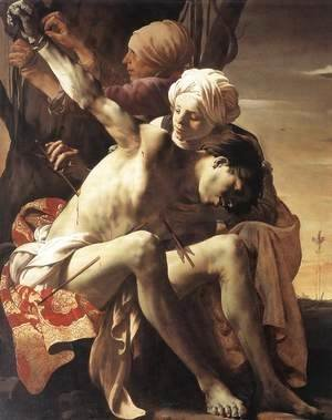 St Sebastian Tended by Irene and her Maid