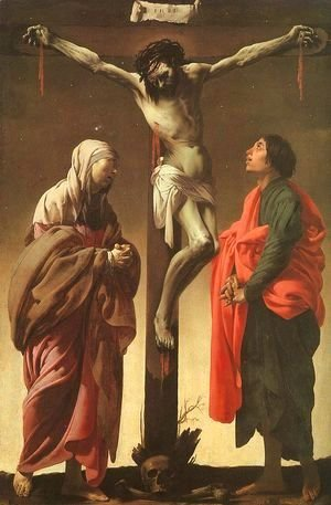Hendrick Terbrugghen - The Crucifixion with the Virgin and Saint John ca 1625