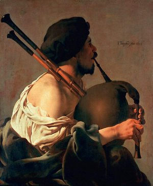 Hendrick Terbrugghen - Bagpipe Player 1624