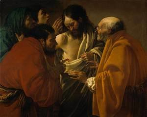 Hendrick Terbrugghen - The Incredulity of Saint Thomas c. 1604