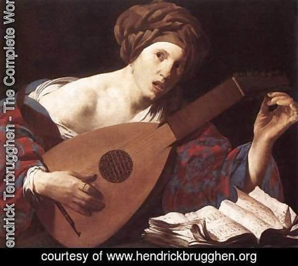 Hendrick Terbrugghen - Woman Playing the Lute 1624-26