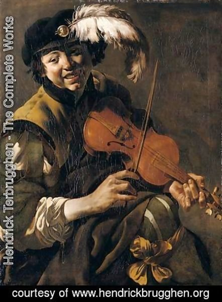 Hendrick Terbrugghen - A Youth Playing The Violin