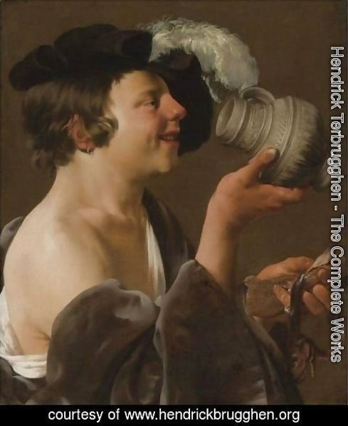 Hendrick Terbrugghen - Boy In Profile, Drinking From A Tankard