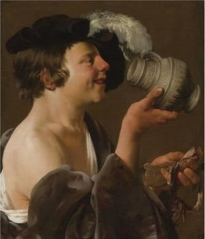 Boy In Profile, Drinking From A Tankard