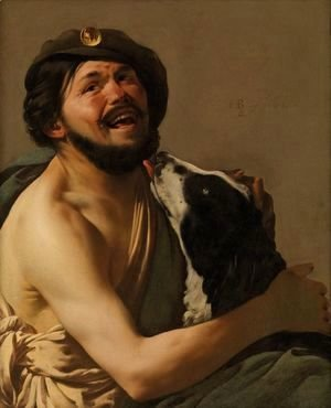 Hendrick Terbrugghen - A Bravo with his Dog, 1628